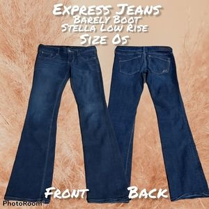EUC EXPRESS JEANS BARELY BOOT 0s